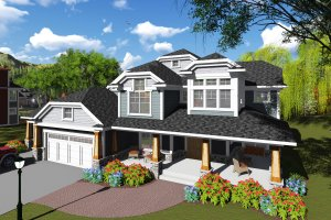 Craftsman Exterior - Front Elevation Plan #70-1255