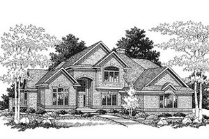 Traditional Exterior - Front Elevation Plan #70-402