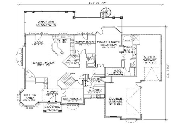 House Plan Design - Bungalow Floor Plan - Main Floor Plan #5-327