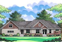 Craftsman Exterior - Front Elevation Plan #51-356