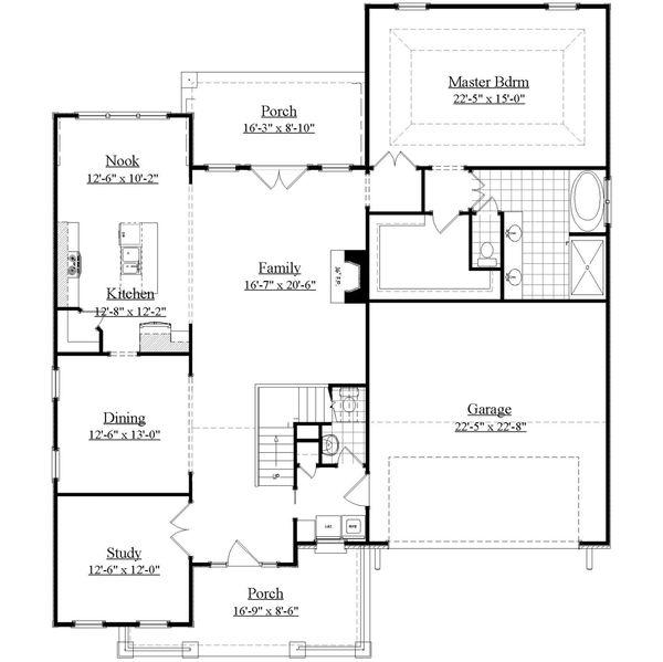 House Plan Design - Farmhouse Floor Plan - Main Floor Plan #1071-6