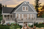 Country Style House Plan - 3 Beds 2 Baths 1832 Sq/Ft Plan #23-849 Exterior - Rear Elevation