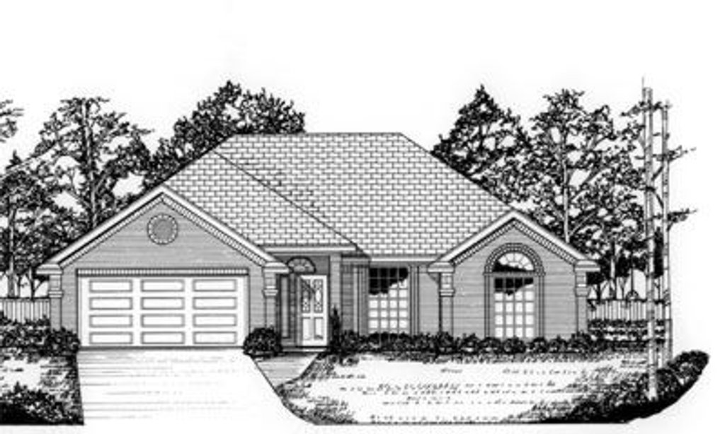 traditional style house plan 3 beds 2 baths 1665 sq ft plan 62 102. Black Bedroom Furniture Sets. Home Design Ideas