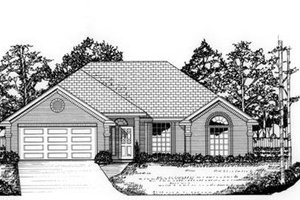 Architectural House Design - Traditional Exterior - Front Elevation Plan #62-102
