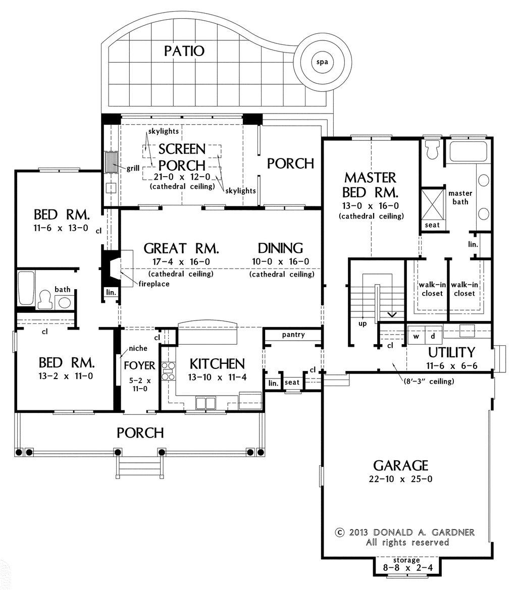 Country style house plan 3 beds 2 baths 1905 sq ft plan for Country style floor plans