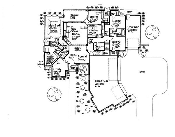 European Floor Plan - Main Floor Plan Plan #310-699