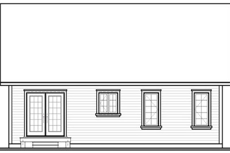Cottage Exterior - Rear Elevation Plan #23-108 - Houseplans.com