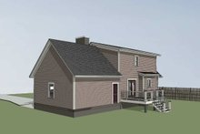 House Plan Design - Country Exterior - Rear Elevation Plan #79-157