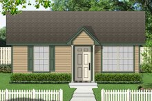 Cottage Exterior - Front Elevation Plan #84-533