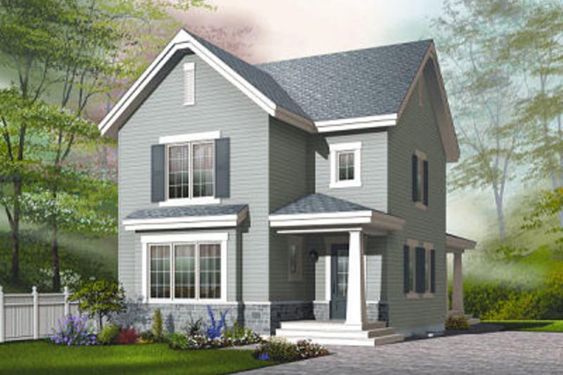Farmhouse Exterior - Front Elevation Plan #23-741 - Houseplans.com