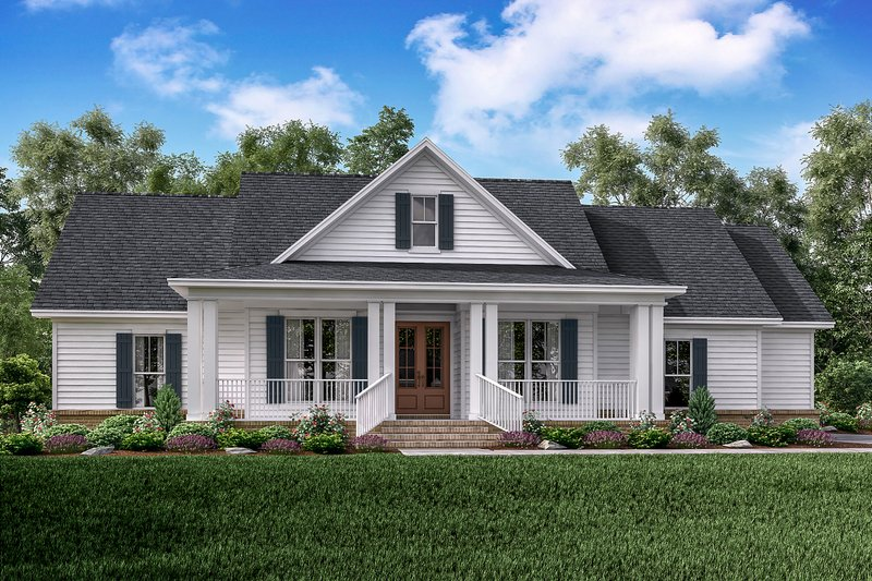 Architectural House Design - Farmhouse Exterior - Front Elevation Plan #430-163