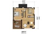 Contemporary Style House Plan - 3 Beds 1 Baths 1296 Sq/Ft Plan #25-4599 Floor Plan - Upper Floor Plan