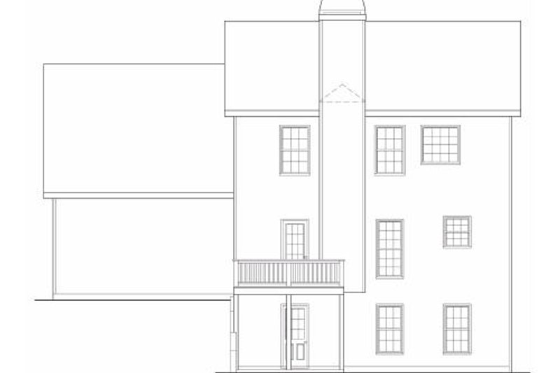 Colonial Exterior - Rear Elevation Plan #419-186 - Houseplans.com