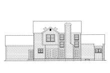 Country Exterior - Rear Elevation Plan #3-252
