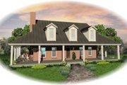 Southern Style House Plan - 3 Beds 2.5 Baths 2892 Sq/Ft Plan #81-773 Exterior - Front Elevation