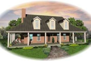 Southern Exterior - Front Elevation Plan #81-773