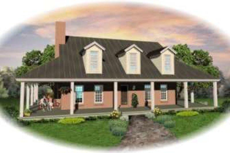 Southern Style House Plan - 3 Beds 2.5 Baths 2892 Sq/Ft Plan #81-773