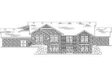 Home Plan - Bungalow Exterior - Rear Elevation Plan #5-380