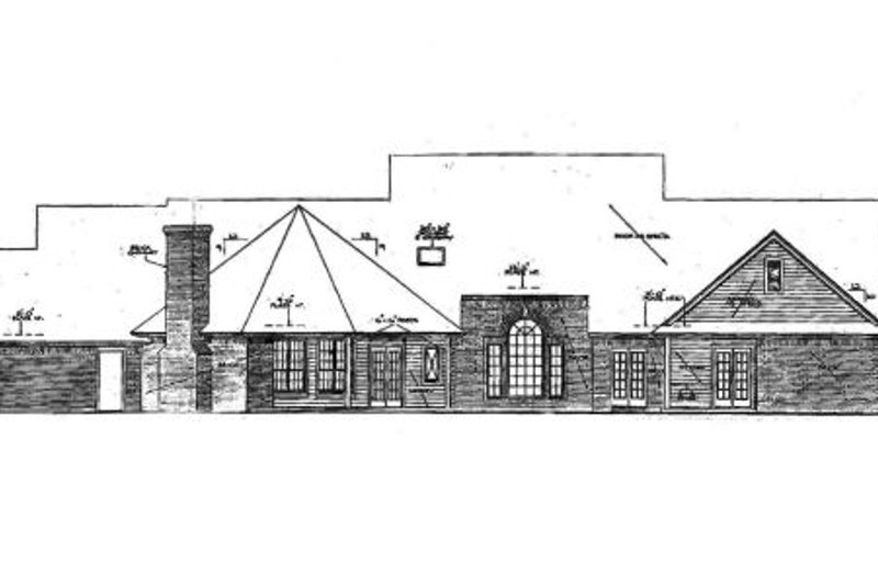 Country Exterior - Rear Elevation Plan #310-218 - Houseplans.com