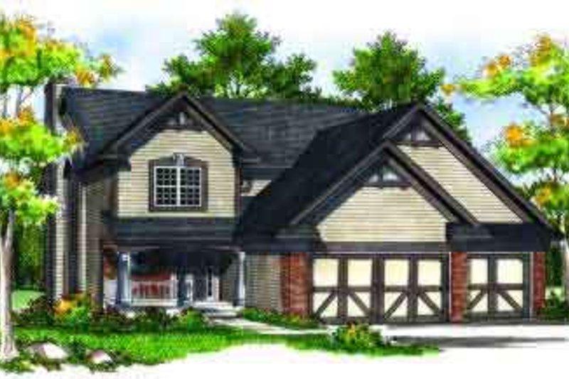 Home Plan - European Exterior - Front Elevation Plan #70-701