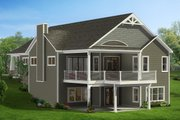 Craftsman Style House Plan - 4 Beds 3 Baths 2986 Sq/Ft Plan #1057-16 Exterior - Rear Elevation