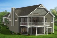 Craftsman Exterior - Rear Elevation Plan #1057-16