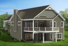 Dream House Plan - Craftsman Exterior - Rear Elevation Plan #1057-16