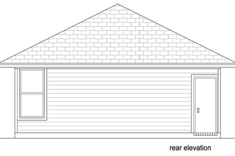 Cottage Exterior - Rear Elevation Plan #84-510 - Houseplans.com