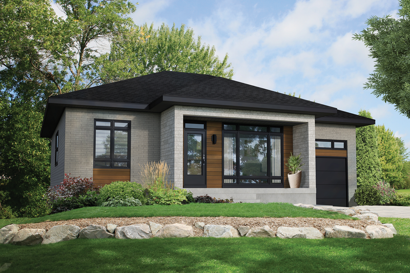 Home Plan - Contemporary Exterior - Front Elevation Plan #25-4902