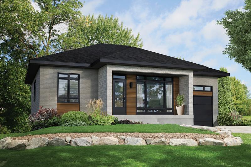 House Plan Design - Contemporary Exterior - Front Elevation Plan #25-4902