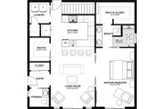 Farmhouse Style House Plan - 1 Beds 1.5 Baths 1024 Sq/Ft Plan #126-176 Floor Plan - Main Floor Plan