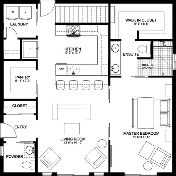 House Plan Design - Farmhouse Floor Plan - Main Floor Plan #126-176