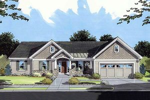 Craftsman style home, front elevation