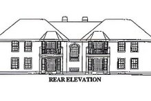 European Exterior - Rear Elevation Plan #57-144