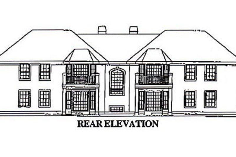 European Exterior - Rear Elevation Plan #57-144 - Houseplans.com