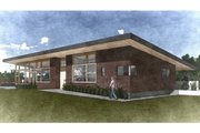 Modern Style House Plan - 2 Beds 2 Baths 2970 Sq/Ft Plan #498-5