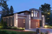 Contemporary Style House Plan - 4 Beds 4.5 Baths 4683 Sq/Ft Plan #1066-132 Exterior - Other Elevation