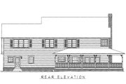 Country Style House Plan - 4 Beds 2.5 Baths 2579 Sq/Ft Plan #11-117 Exterior - Rear Elevation