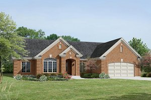 House Plan Design - Traditional Exterior - Front Elevation Plan #57-375