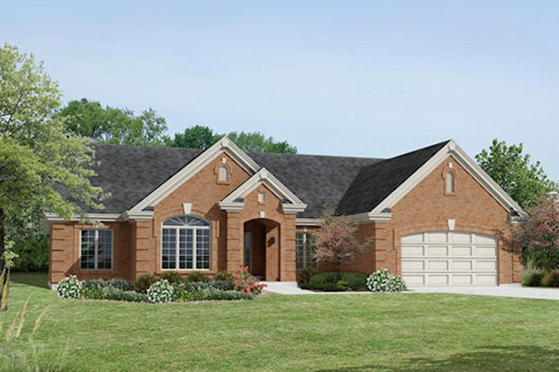 Traditional Exterior - Front Elevation Plan #57-375 - Houseplans.com