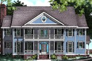 Colonial Style House Plan - 4 Beds 3.5 Baths 3273 Sq/Ft Plan #20-1104 Exterior - Other Elevation