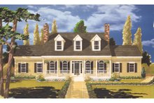 Dream House Plan - Colonial Exterior - Front Elevation Plan #3-261