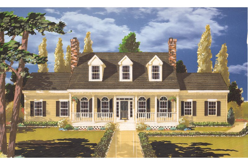 Home Plan - Colonial Exterior - Front Elevation Plan #3-261