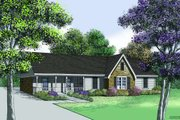 Traditional Style House Plan - 3 Beds 2 Baths 1400 Sq/Ft Plan #45-300 Exterior - Front Elevation