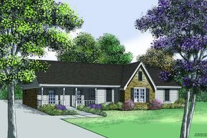 Traditional Exterior - Front Elevation Plan #45-300