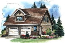 Home Plan - Traditional Exterior - Front Elevation Plan #18-402