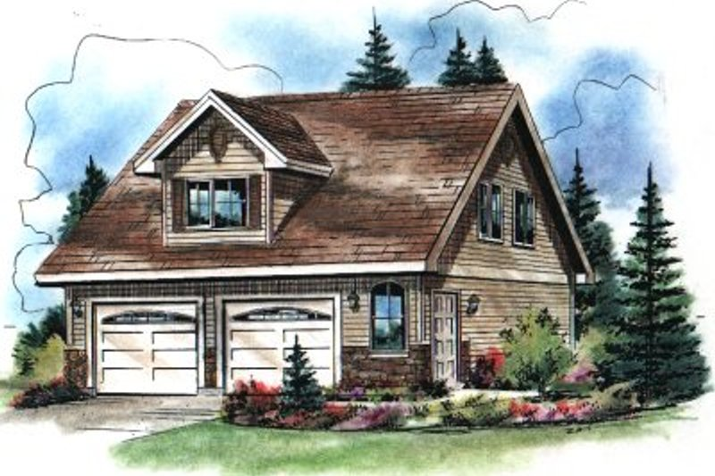 Architectural House Design - Traditional Exterior - Front Elevation Plan #18-402