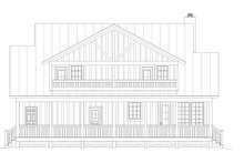 Country Exterior - Rear Elevation Plan #932-43