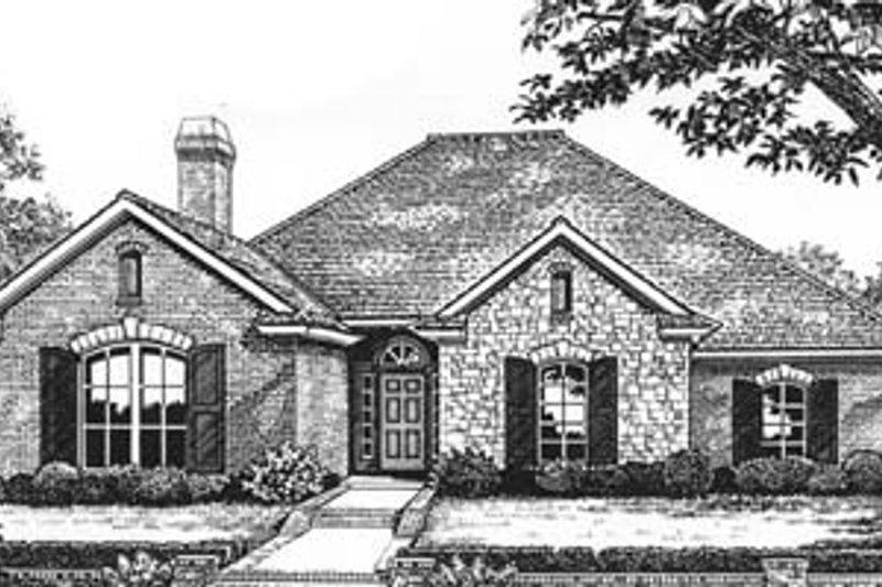 Dream House Plan - European Exterior - Front Elevation Plan #310-582
