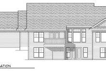 Dream House Plan - Traditional Exterior - Rear Elevation Plan #70-805